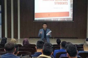 Komar Departmental Meeting with Students1